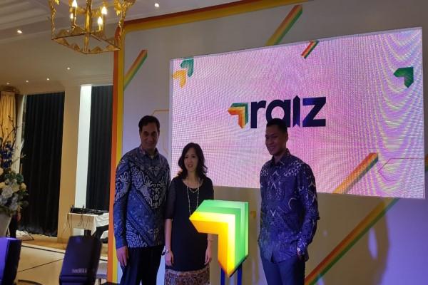 Founder and CEO Raiz Invest Australia George Lucas, CEO Raiz Invest Indonesia Melinda N. Wiria, dan Commissioner Raiz Invest Indonesia Michael N. Luhukay dalam Peluncuran Raiz Invest Indonesia di Jakarta, Jumat (23/8/2019) - Denis Riantiza M