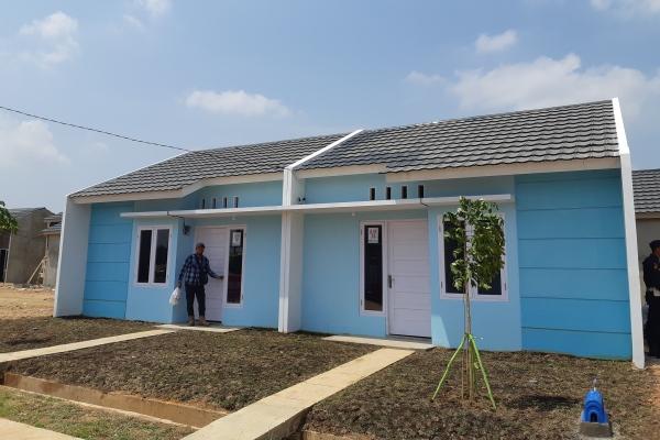 Rumah contoh tipe 36 di BPS Land Kota Palembang. - Bisnis/Dinda Wulandari