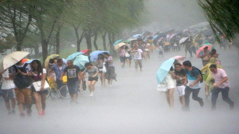 Taifun Bailu menerjang Taiwan pada Sabtu (24/8/2019). - Reuters
