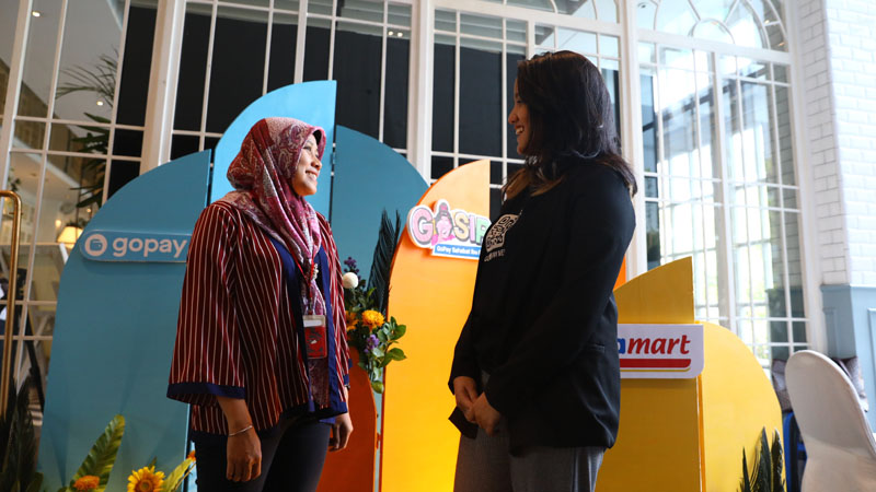 GoPay & Alfamart luncurkan gosip untuk emak-emak. - Istimewa