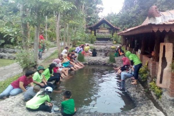 Kampung Flory di Sleman, Yogyakarta. - Antara