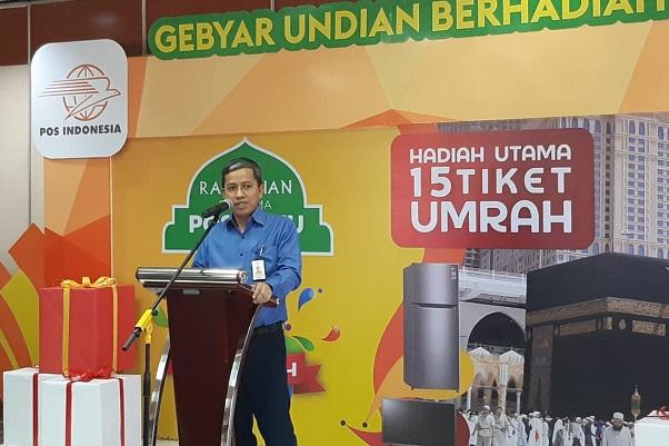Direktur Jaringan dan Layanan Keuangan PT Pos Indonesia Ihwan Sutardiyanta - Bisnis - Hadijah Alaydrus