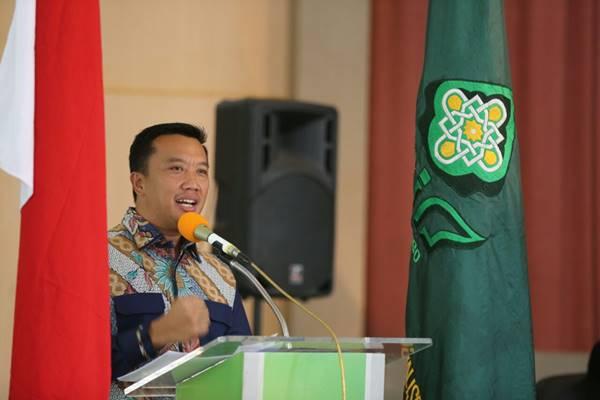 Menteri Pemuda dan Olahraga Imam Nahrowi saat memberikan paparan di kampus UIN Semarang. - JIBI/Alif Nazzala Rizqi