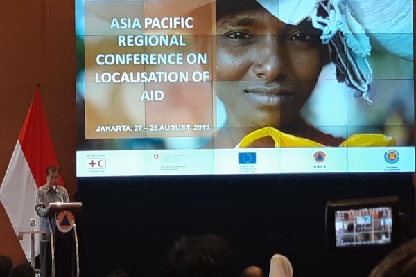 Wapres JK dalam konfrensi 'Asia Pasific Regional Conference on Localisation on Aid' di Jakarta, Selasa (27/8/2019) mendorong negara Asia Pasifik meningkatkan kerjasama penangan bencana. - Bisnis/Anggara Pernando
