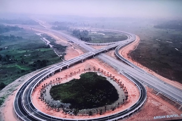 Ruas jalan tol KayuagungPalembang yang merupakan bagian dari Jalan Tol Trans Sumatra (JTTS). Istimewa