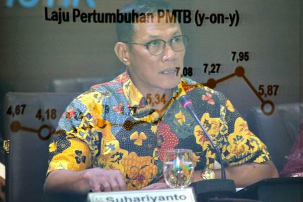 Kepala Badan Pusat Statistik (BPS) Suhariyanto memberikan paparan dalam konferensi pers Pertumbuhan Ekonomi Indonesia kuartal II/2018, di Jakarta, Senin (6/8/2018). - JIBI/Felix Jody Kinarwan