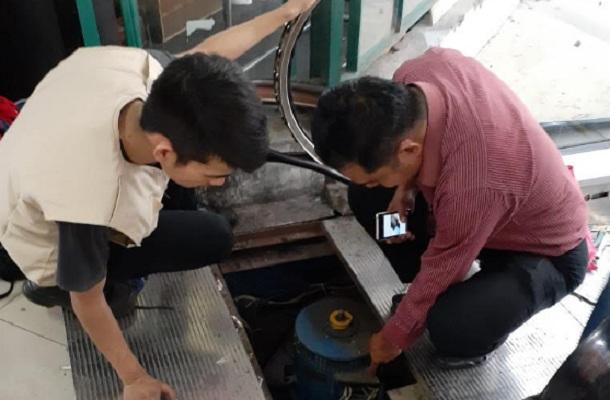 Pengecekan fasilitas Pasar Andir - Bisnis/Dea Andriyawan