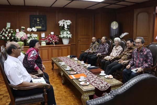 Pertemuan Pengurus Pusat PII dengan Menteri Lingkungan Hidup dan Kehutanan Siti Nurbaya Bakar yang juga menjabat sebagai Dewan Penasehat PII di Jakarta, Rabu (28/8/2019). - Istimewa