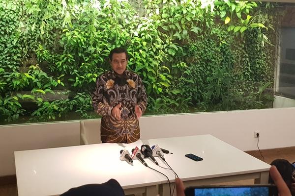 Direktur Utama terpilih hasil Rapat Umum Pemegang Saham Luar Biasa (RUPSLB) PT Bank Tabungan Negara (Persero) Tbk. Suprajarto mengumumkan pengunduran dirinya, Jakarta, Kamis (29/8) - Bisnis/Lalu Rahadian