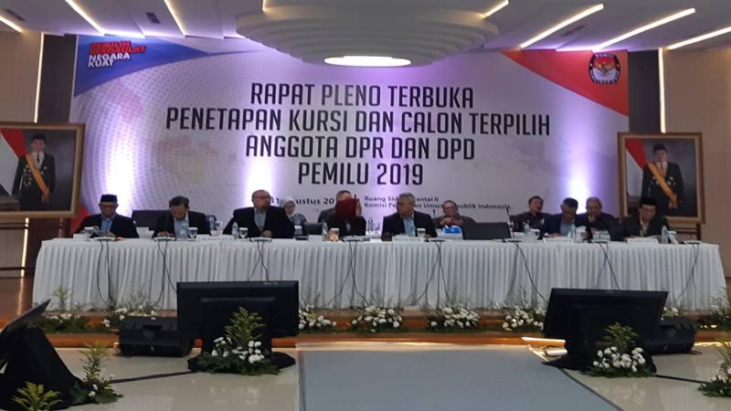 : Rapat penetapan anggota DPR dan DPD terpilih periode 2019-2024 di Jakarta, Sabtu (31/8/2019). JIBI/Bisnis - Samdysara Saragih