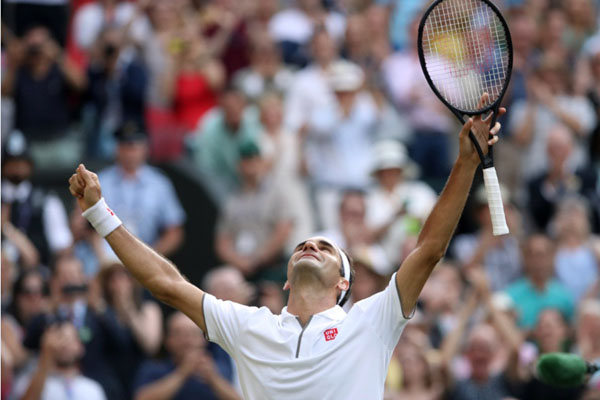 Petenis Swiss Roger Federer - Reuters/Carl Recine