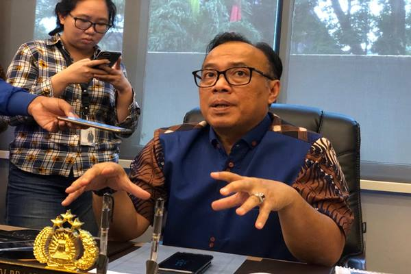Kepala Biro Penerangan Masyarakat Mabes Polri Brigjen Pol Dedi Prasetyo - Bisnis/Sholahuddin Al Ayubbi