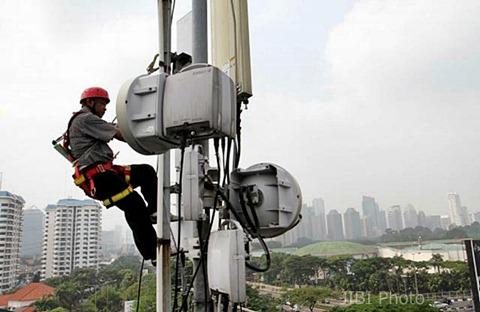 Pemeliharaan jaringan 4G - JIBI/Dwi Prasetya