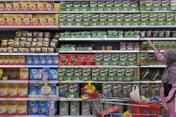 Susu bubuk di supermarket - Antara