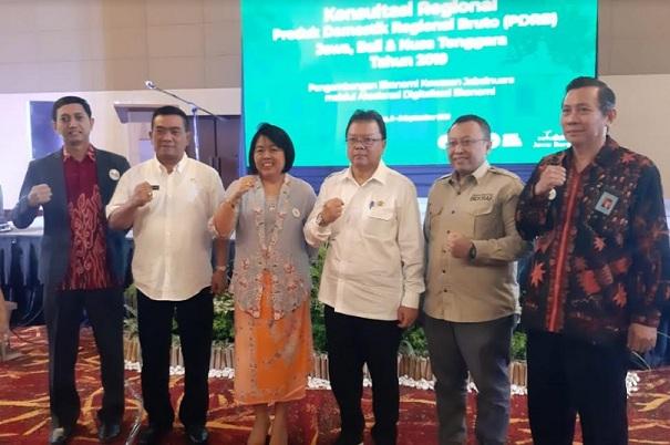 Konsultasi Regional Produk Domestik Regional Bruto se-Jawa, Bali dan Nusa Tenggara (Konreg PDRB Jabalnusra) Tahun 2019. - Bisnis/Dea Andriyawan
