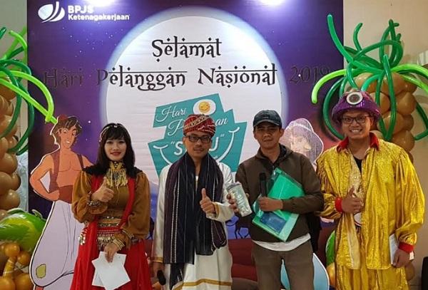 Semarak Hari Pelanggan Nasional BPJS Ketenagakerjaan Bandung Suci - Bisnis/Dea Andriyawan