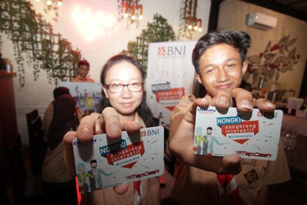 BNI mentraktir millenials di Hari Pelanggan Nasional (Harpelnas) 2019 dengan tema BNI Nongki (Nongkrong Interaktif) di Jakarta, pada 4 September 2019.