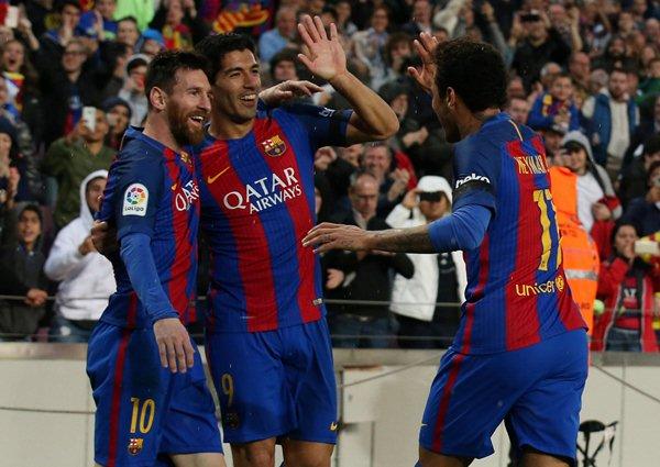 Trio MSN, Lionel Messi, Luis Suarez dan Neymar - Reuters