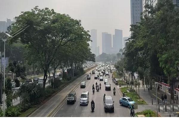 Ilustrasi kualitas udara Jakarta. - Antara