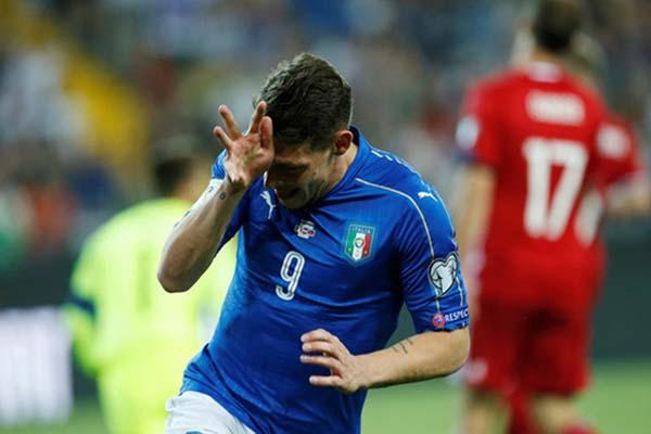 Penyerang Timnas Italia Andrea Belotti - Reuters/Alessandro Garofalo