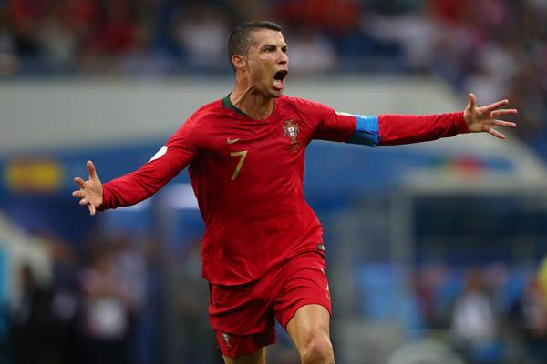 Penyerang Timnas Portugas Cristiano Ronaldo saat bertanding melawan Timnas Portugal, 15 Juni 2018. - Reuters