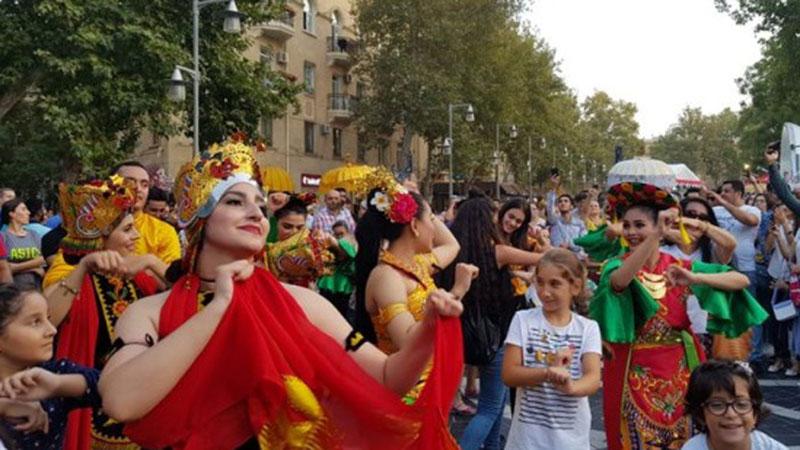 Semarak Indonesian Cultural Festival di Baku, Azerbaijan, tahun lalu. - Istimewa