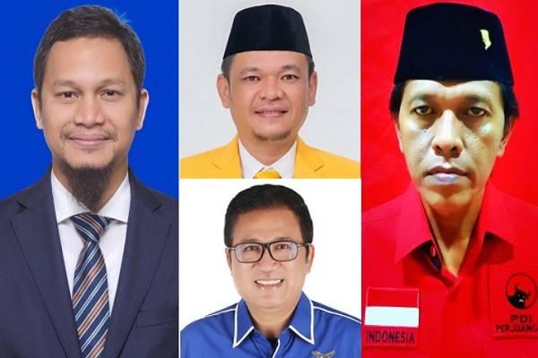 (Searah jarum jam) Hanafi Rais, Ace Hasan Syadzily, Adian Napitupulu, dan Didi Irawadi Syamsudin - Bisnis.com/KPU