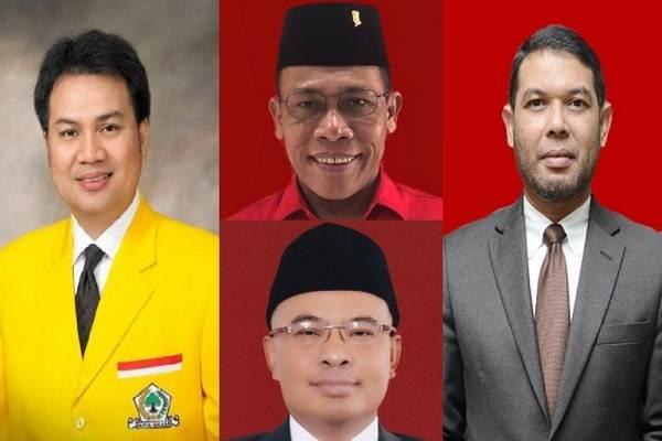(Searah putaran jarum jam) Azis Syamsuddin, Masinton Pasaribu, Muhammad Nasir Djamil, Desmond J. Mahesa - Bisnis.com/KPU/DPR