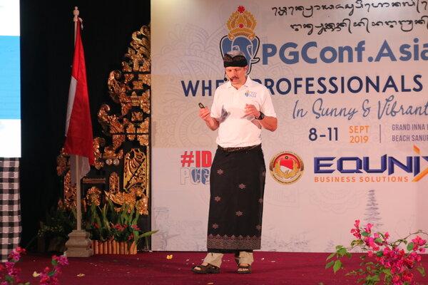 Kegiatan konferensi tingkat dunia tentang seluruh aspek software database Open Source PostgreSQL, yang digelar di Denpasar Bali, Senin (9/9/2019). Kegiatan ini merupakan konferensi internasional yang untuk pertama kalinya digelar di Indonesia tersebut, mengusung tema Saat Bisnis Bertemu Peretas dan berlangsung mulai 9 hingga 12 September 2019 mendatang di salah satu hotel di kawasan Sanur Denpasar, Bali. - Bisnis/Sultan Anshori