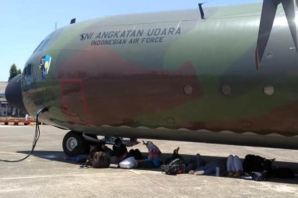 Pesawat Hercules milik TNI AU - JIBI/Paulus Tandi Bone