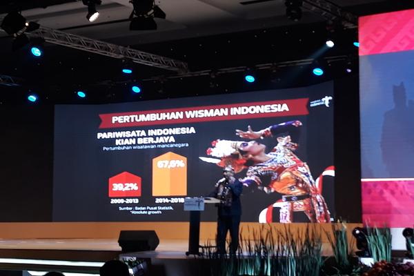 Menteri Pariwisata Arief Yahya di sela-sela Rakornas Pariwisata III, Selasa (10/9/2019). - Bisnis/Rezha Hadyan