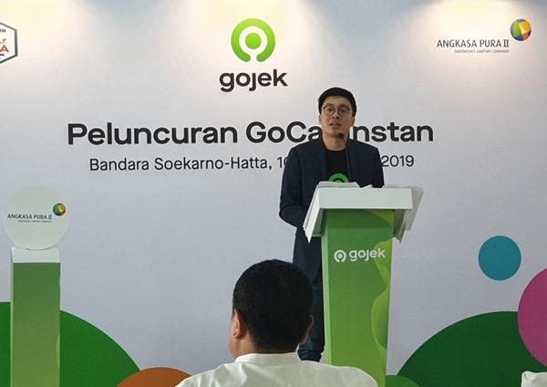 Co-Founder Gojek Kevin Aluwi saat peluncurkan GoCar Instan di Bandara Soekarno-Hatta Cengkareng Tangerang, Selasa (10/9/2019). BISNIS - Rio Sandy Pradana