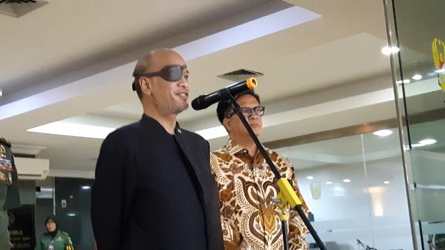Thareq Kemal Habibie saat konferensi pers di RSPAD, Jakarta. Bisnis Indonesia - Rayful Mudassir