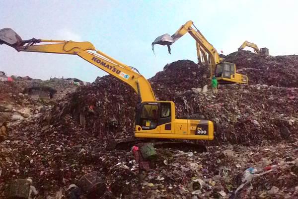 Tempat Pengolahan Sampah Terpadu (TPST) Bantargebang Bekasi - Bisnis.com/Muhammad Hilman