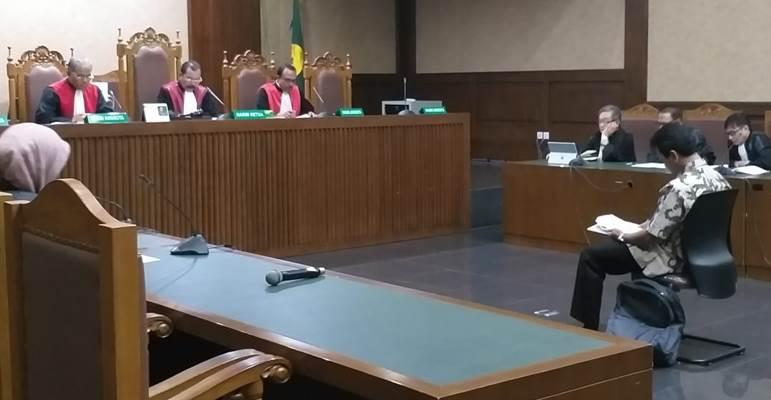 Suasana sidang dengan agenda pembacaan dakwaan untuk Romahurmuziy - Bisnis/Ilham Budiman