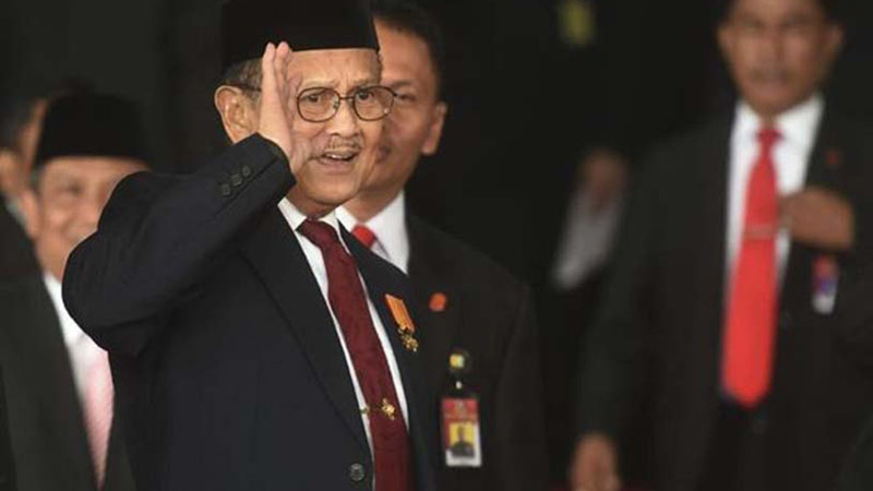 Presiden ketiga RI B. J. Habibie. - Antara
