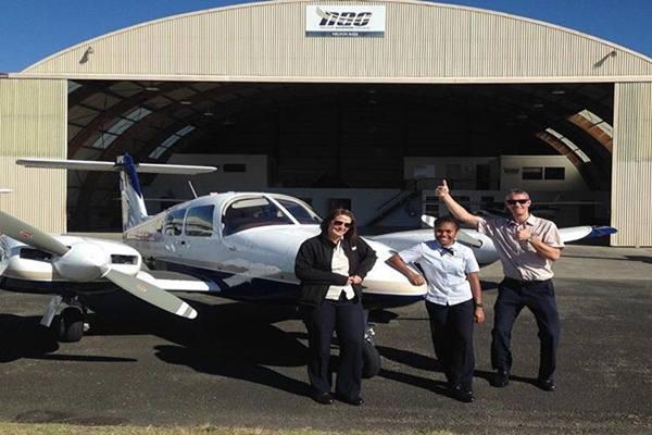 Satu dari 2 pilot wanita asal Papua yang bekerja di Garuda Indonesia Group. - Dok.Garuda Indonesia