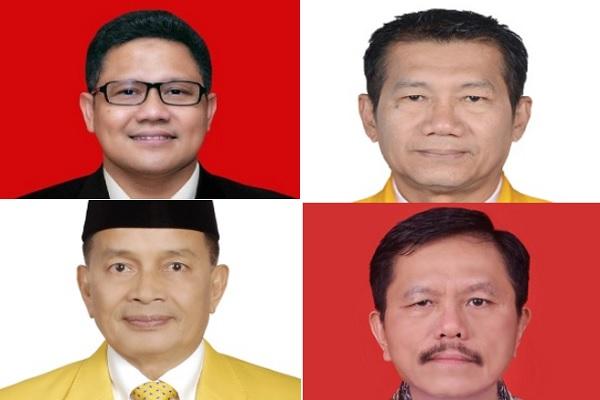 (Dari kiri-atas searah putaran jarum jam) Muhaimin Iskandar, Agun Gunandjar Sudarsa, Ramson Siagian, Darul Siska/Bisnis.com/KPU - DPR