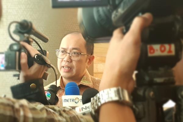 Direktur Jenderal Kekayaan Negara (DJKN) Isa Rachmatarwata memberikan keterangan kepada awak media seusai diskusi bertajuk 'Optimalisasi Industri Petrokimia Nasional', di Jakarta, Kamis (12/9/2019). - Bisnis - Oktaviano D.B. Hana