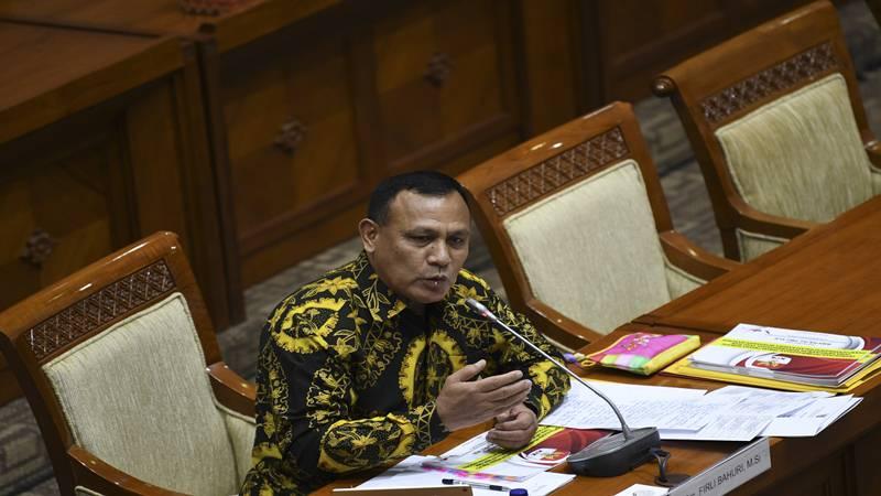 Firli Bahuri menjalani uji kepatutan dan kelayakan di ruang rapat Komisi III DPR, Senayan, Jakarta, Kamis (12/9/2019). - Antara