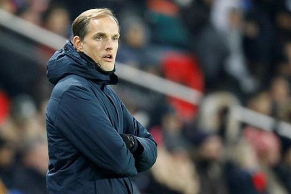 Pelatih Paris Saint-Germain Thomas Tuchel. Tim besutannya memimpin klasemen sementara Ligue 1 Prancis. - Reuters