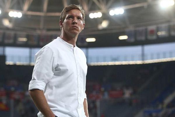 Julian Nagelsmann, pelatih RB Leipzig yang baru berusia 32 tahun, paling muda dalam sejarah Bundesliga. Tim asuhannya tengah memimpin klasemen sementara Bundesliga musim 2019 - 2020. - Reuters