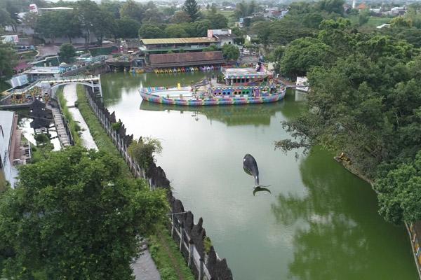 Danau di kompleks Kampus III UMM. Istimewa