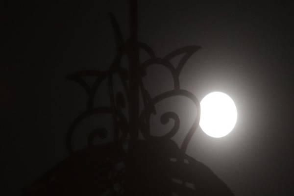 Penampakan purnama harvest moon dari Griya Solopos. (Solopos/Sunaryo Haryo Bayu).