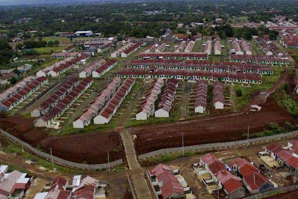 Foto aerial kawasan perumahan subsidi. - JIBI/Nurul Hidayat