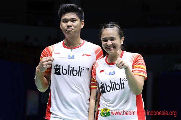 Ganda campuran, Praveen Jordan dan Melati Daeva Oktavianti - badmintonindonesia.org