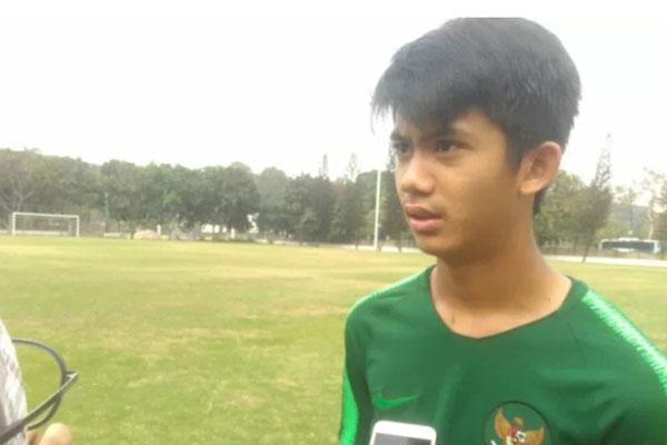 Gelandang serang Timnas Indonesia U-16 Muhammad Valeroen - Antara/Rauf Andar Adipati/