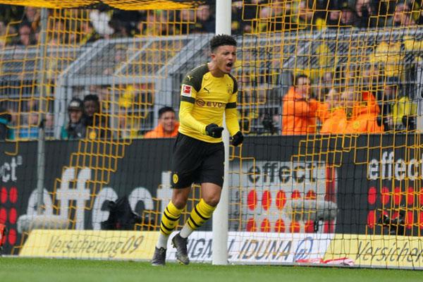 Penyerang sayap Borussia Dortmund Jadon Malik Sancho - Reuters/Leon Kuegeler