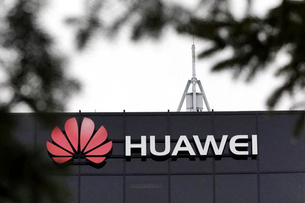 Ilustrasi logo Huawei. - REUTERS/Chris Wattie
