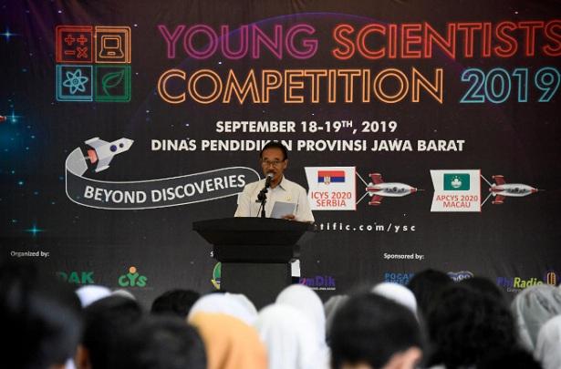 Penjabat Sekretaris Daerah Provinsi Jawa Barat Daud Achmad resmi membuka Young Scientists Competition 2019 - Bisnis/Wisnu Wage